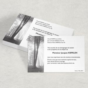 modèle 10 carte deuil